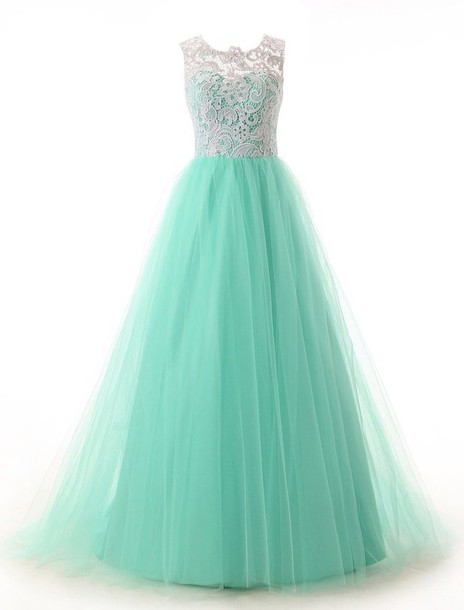Custom Made Blue Long Prom Dresses 2015, Turquoise Prom Dresses ...