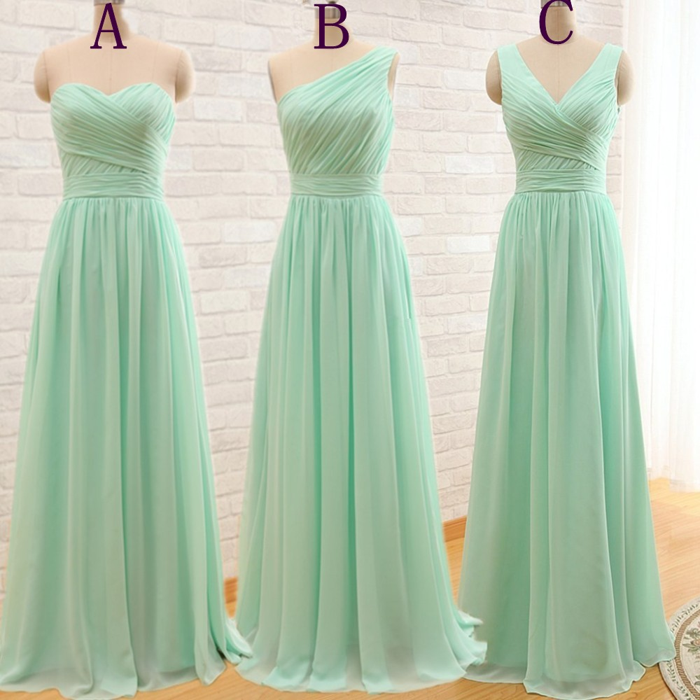 Elegant Cheap Long Mint Green Bridesmaid Dresses 2016 ...