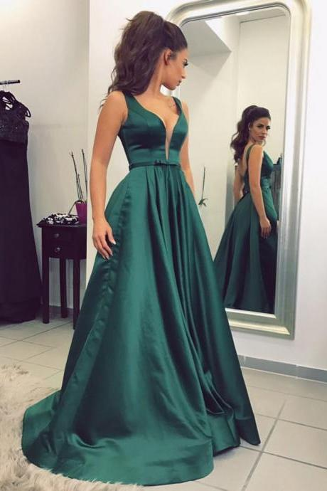 Dark Green Prom Dress,Long Prom Dresses,Prom Dresses,Evening Dress, Prom Gowns, Formal Women Dress,Prom Dress