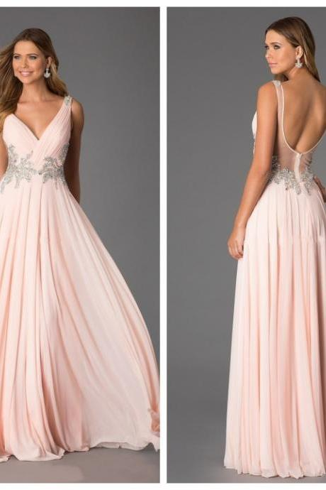 Backless Prom Dresses, Sexy Prom Dress, Backless Prom Dresses, Chiffon Prom Dresses, 2016 Prom Dresses, Long Prom Dresses, Dresses For Prom