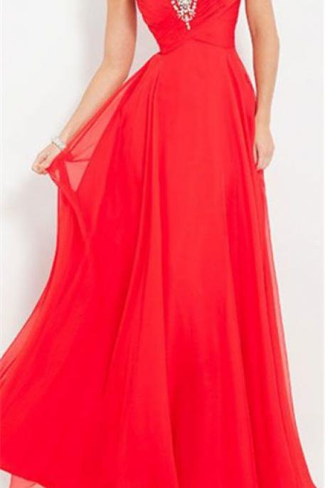 Red Prom Dresses,Long Evening Dresses,Prom Gowns,Beaded Party Dresses,Pageant Dress,Halter Evening Gowns For 2016 Teens