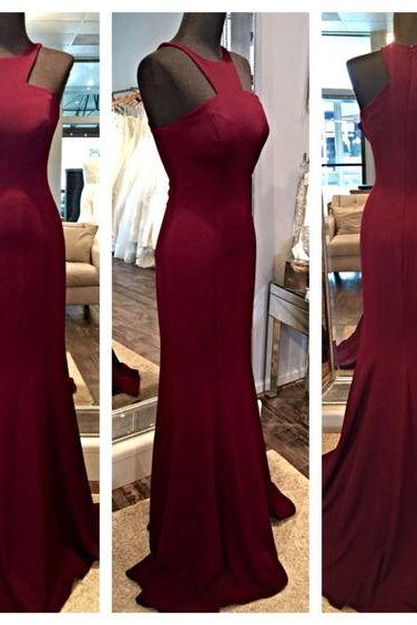 Charming Burgundy Prom Dress, Elegant Evening Dress, Red Wine Prom Gowns, Mermaid Prom Dresses, Prom Party Dresses, Burgundy Evening Dress, Burgundy Formal Dresses