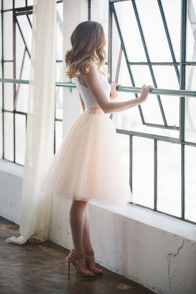 Blush Tulle Skirt, Tulle Skirt, Midi Skirt, Fashion Tulle Skirt, Woman Skirt, A-line Shirt