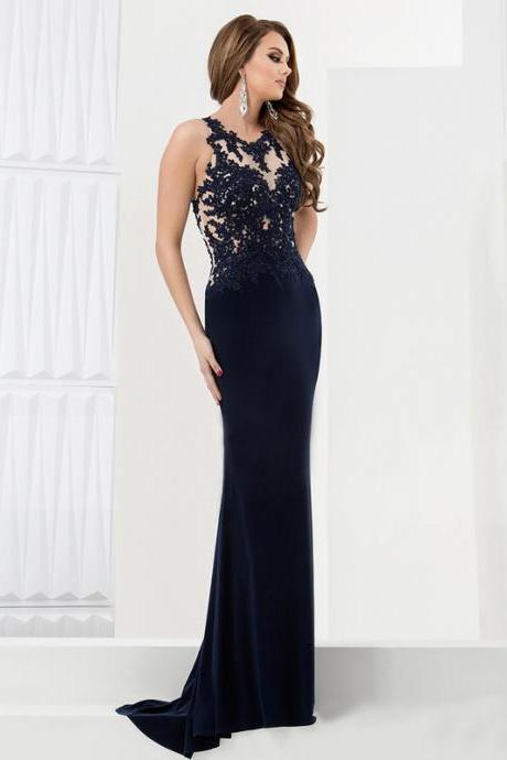 Simple Dress Black Prom Dresses, Mermaid Chiffon Long Prom Dresses, Graduation Dress, Evening Dresses, Black Prom Dress, Long Prom Dress, Sexy Prom Dress, Backless Prom Dress, Lace Prom Dress