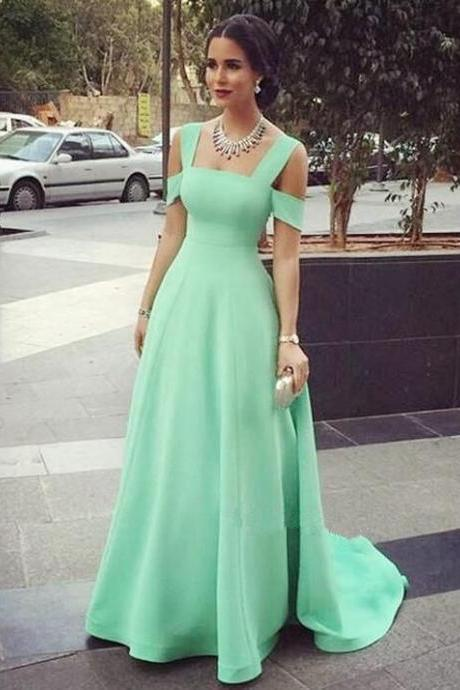 Mint Green Prom Dresses,Sexy Evening Dresses,Prom Gowns,Elegant Prom Dress,Satin Prom Dresses,Simple Prom Gowns,Modest Formal Dress