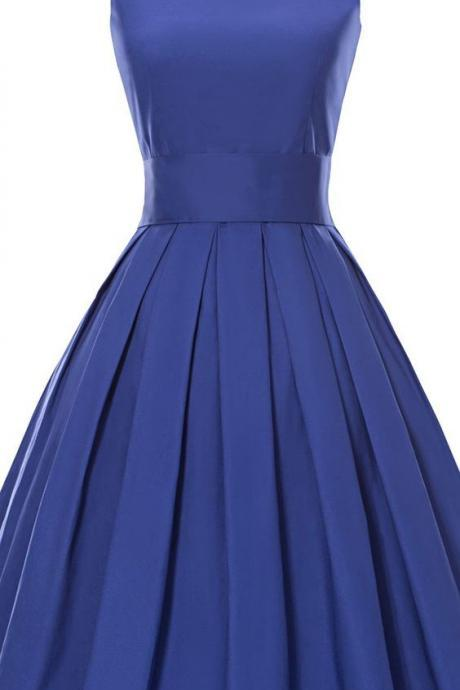Vintage 1950's Prom Dress, Chic Party Dress, Little Black Dress, Royal Blue Dress, A-line Prom Dress, Short Prom Dress, Cocktail Dresses, Simple Homecoming Dresses