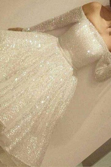 Charming Short Prom Dress, Sparkly Homecoming Dresses, Homecoming Dresses Sparkly, Ivory Homecoming Dress, Woman Evening Dress, Short Dress