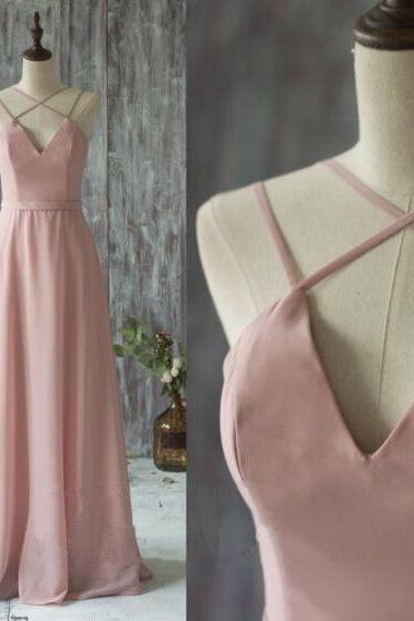 Charming Prom Dress,Long Prom Dresses,Sexy Backless Prom Dresses,Chiffon Evening Dress