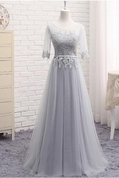 Charming Prom Dress, Long Prom Dress, Tulle Prom Dress, Lace Prom Dress,Woman Evening Dress, Formal Dresses