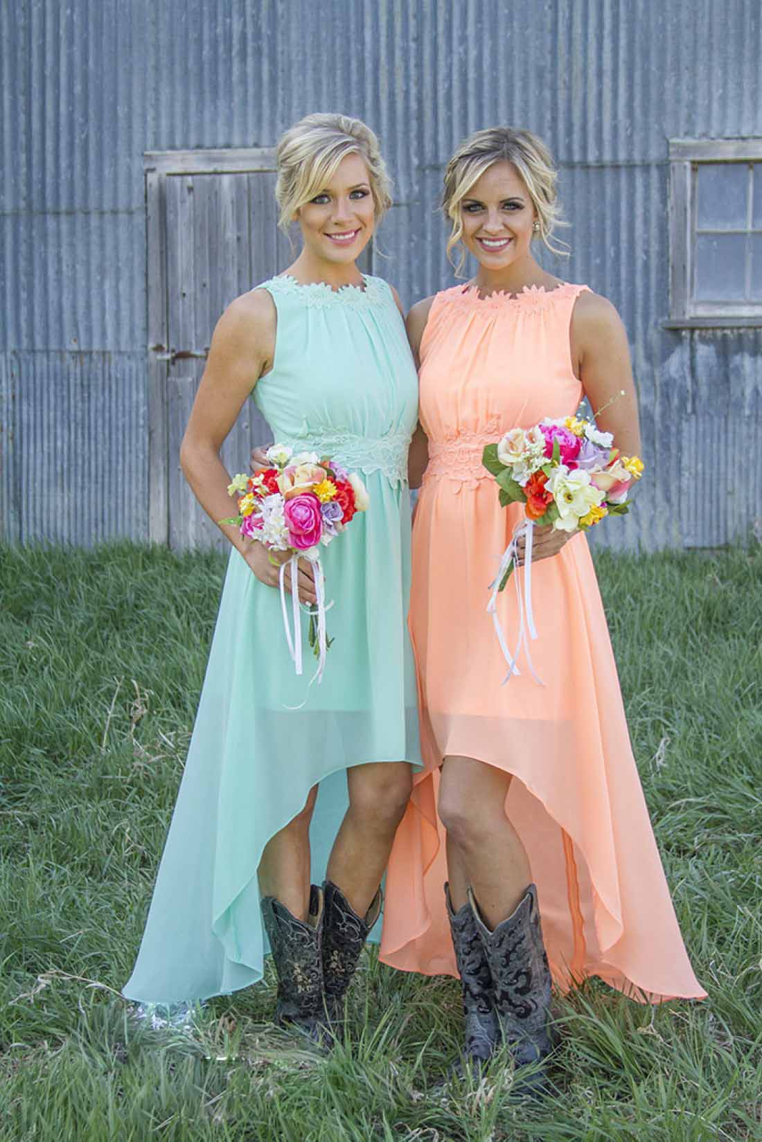 High Low Bridesmaid Dresses For 2016 Summer Fall Country